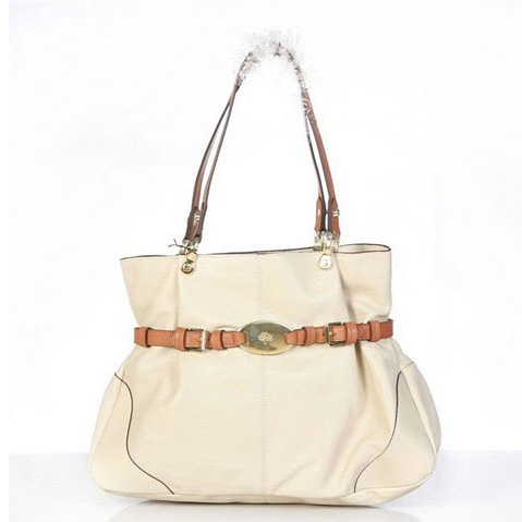Mulberry Beatrice Tote Bag Soft Spongy Leather White