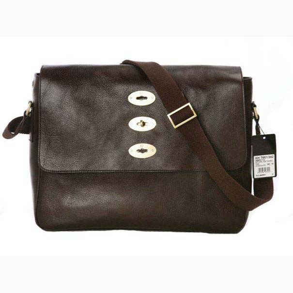 Mulberry Brynmore Messenger Bag Natural Leather Coffee