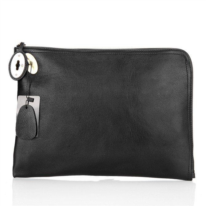 Mulberry Clutch Bag Soft Spongy Leather Black