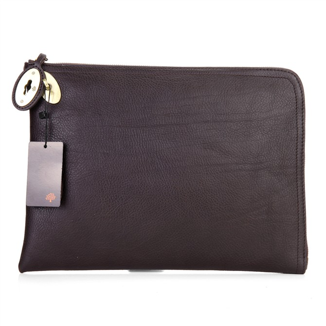 Mulberry Clutch Bag Soft Spongy Leather Chocolate