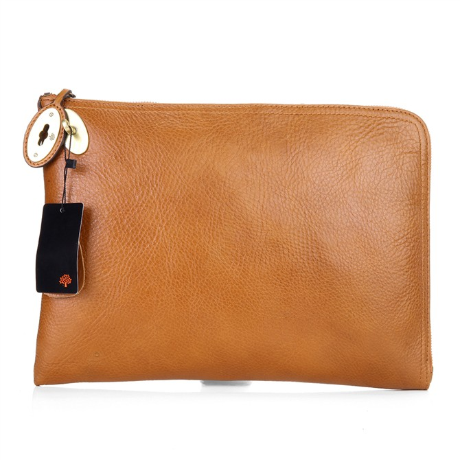 Mulberry Clutch Bag Soft Spongy Leather Oak