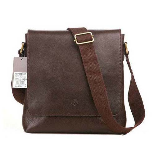 Mulberry Dan Messenger Bag Natural Leather Chocolate