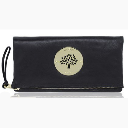 Mulberry Daria Clutch Bag Soft Spongy Leather Black