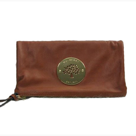 Mulberry Daria Clutch Bag Soft Spongy Leather Brown