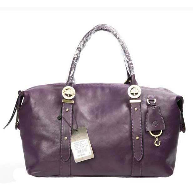Mulberry Drew Clipper Holdalls Bag Soft Buffalo Leather Purple