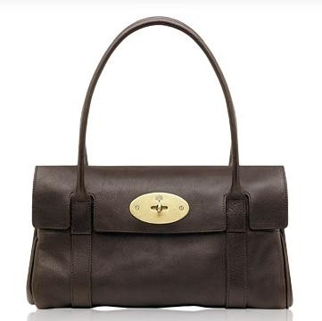 Mulberry East West Bayswater HandBag Natural Leather Chocolate