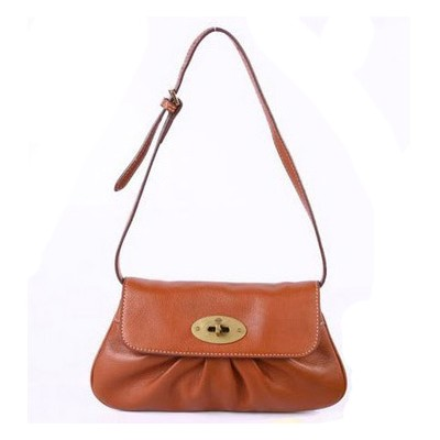 Mulberry Joelle Pochette Clutch Bag Natural Leather Oak