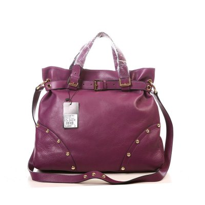 Mulberry Lizzie Tote Bag Natural Leather Purple
