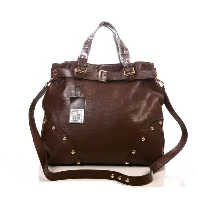 Mulberry Lizzie Tote Bag Natural Leather Chocolate