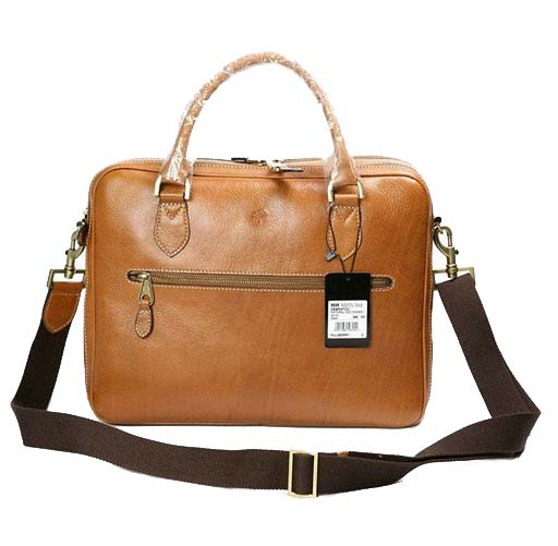 Mulberry Heathcliffe Briefcase Bag Natural Leather Oak