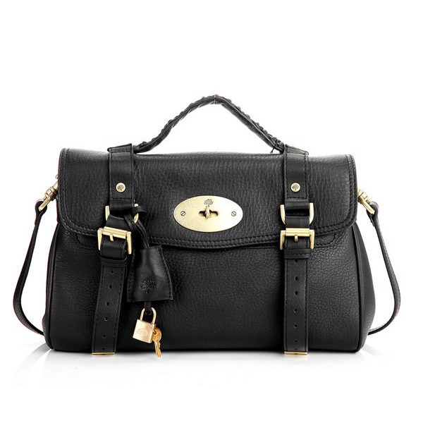 Mulberry Oversized Alexa Bag Natural Leather Black