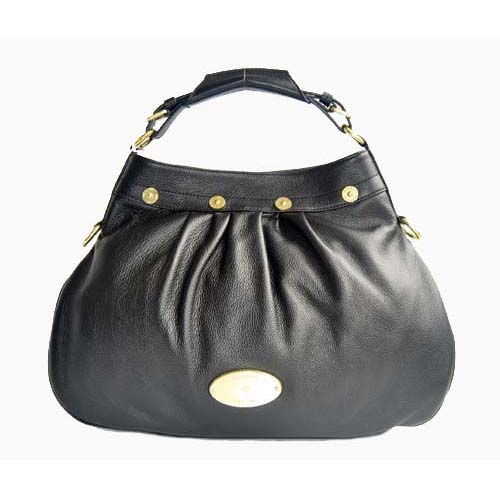 Mulberry Mitzy Hobo Tote Bag Pebbled Leather Black