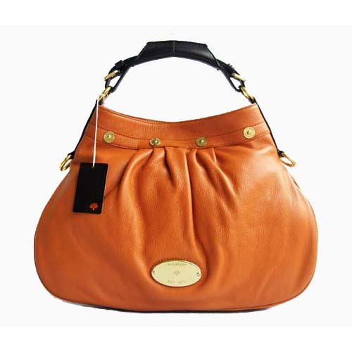 Mulberry Mitzy Hobo Tote Bag Pebbled Leather Oak