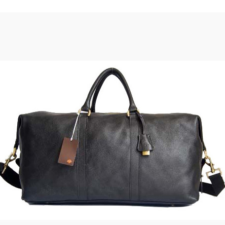 Mulberry Small Clipper Holdalls Bag Natural Leather Black