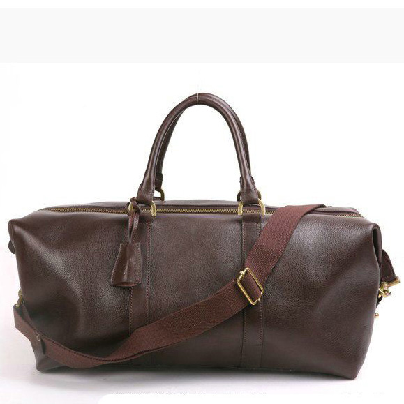 Mulberry Small Clipper Holdalls Bag Natural Leather Chocolate
