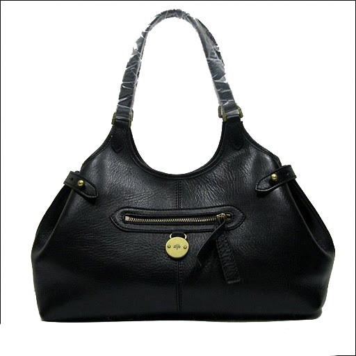 Mulberry Somerest Antony Tote Bag Pebbled Leather Black