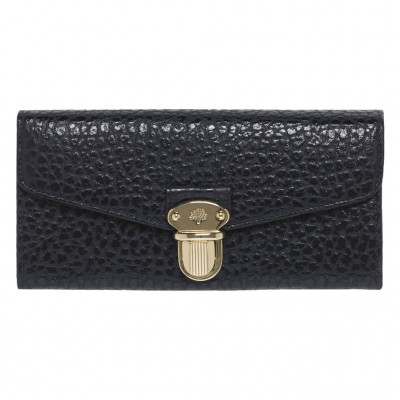 Mulberry Polly Push Lock Continental Wallets Black