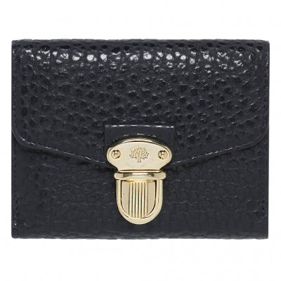 Mulberry Polly Push Lock Small Wallets Black