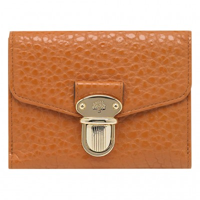 Mulberry Polly Push Lock Small Wallets Pumpkin
