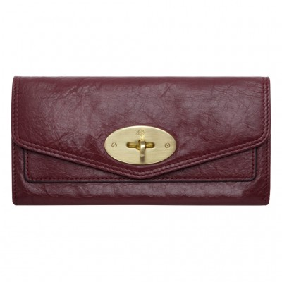 Mulberry Postman's Lock Continental Wallets Soft Buffalo Leather Conker