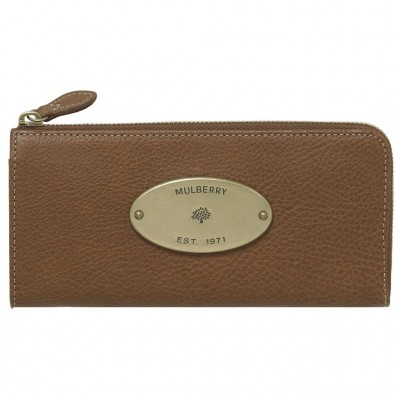 Mulberry Slim Wallets Natural Leather Oak