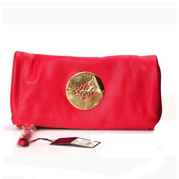 Mulberry Daria Clutch Bag Soft Spongy Leather Red